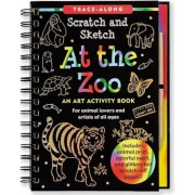 At the Zoo: An Art Activity Book for Animal Lovers and Artists of All Ages [With Wooden Stylus], Hardcover