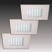 HERA Q 68 LED recessed light in ss finish, set of three