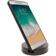 Round Design Wooden Mobile Phone Stand / Holder For Smartphone (Dark Brown)
