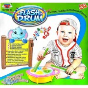 Musical Flash Drum With Lights And Music (Multi color)