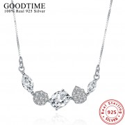 Colier argint 925 elegant cristale zirconiu