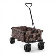 Waldbeck The Camou carrinho de mão com dobrável 70 kg 90L rodas largas com 10 cm azul