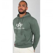 Alpha Industries Basic Felpa con cappuccio Verde 2XL