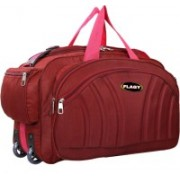 FLAGY (Expandable) Stylish Quality fabric Waterproof (Expandable ) Lightweight 40 litres 22 Inch Travel Duffel Bag/Cabin Luggage Travel Duffel Bag(Red)