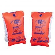 Bema 2x Oranje zwembandjes/zwemmouwtjes voor babies tot 11 kilogram - Zwembandjes