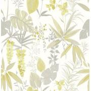 A-Street Prints Astu8 # 2656-004017 Descano Flower dorado Green Botanical,