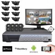 Kit vidéosurveillance 8 caméras CMOS 600 lignes
