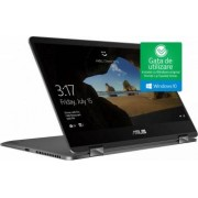 Ultrabook 2in1 Asus ZenBook Flip 14 Intel Core Whiskey Lake (8th Gen) i5-8265U 256GB SSD 8GB Win10 FullHD Tastatura il. Slate Grey Bonus Geanta Laptop Asus Nereus
