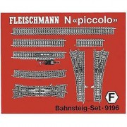 Fleischmann N Fleischmann piccolo (incl. track bed) 9196 Expansion set
