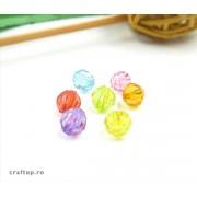 Mărgele rotunde fațetate (pungă 500g)