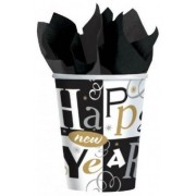 Happy New Year műanyag pohár, 266ml, 8db/cs