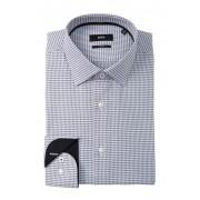BOSS Jessi Geo Print Slim Fit Dress Shirt DARK BLUE