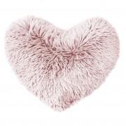 Douceur d'intérieur Chlupatý polštář MARILOU růžový, 40 x 40 cm
