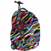 Trzykomorowy plecak szkolny na kółkach St.Right 34 L, New Illusion TB1