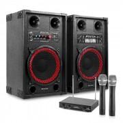 "Impianto Karaoke ""STAR-Neukölln"" Casse PA 600 W| Set 2 Canali VHF Radio Microfono"