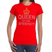 Toppers official merchandise Rood Toppers Queen of the afterparty glitter t-shirt dames