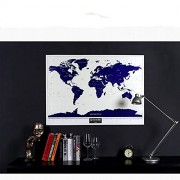 Lepakshi Scratch Map of The World Travel Edition Deluxe Scratch Off Map Personalized World Map Poster Black Traveler Journal Log Gift 82X59Cm