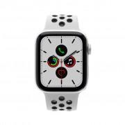 Apple Watch Series 5 Nike+ - caja de aluminio en plata 44mm- correa deportiva platinum/negro (GPS) refurbished