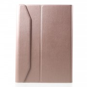 Detachable Bluetooth Keyboard PU Leather Cover with Stand for 9.7 inch iPad / Air 2 / Air - Rose Gold