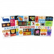 Really Decent Books Lift the Flap Early Learning Guide Colours, Animals and Numbers 3 Board Books By Philip Dauncey - Ages 0-5