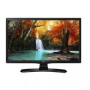 """Монитор LG 24MT49VF-PZ, 23.6"""" (59.94 cm) LED панел, HD, 5M:1, 5 ms, 250cd/m2, HDMI, TV тунер, черен"""