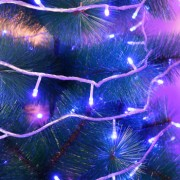 Instalatie de Craciun Flippy Tip Liniara Fir Transparent 23 m 320 LED-uri Interconectabila Albastru