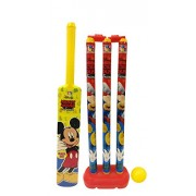 Disney mickey cricket set for kids in box packing for easy storage/ sports toys for kids/ development toys for kids/ Outdoor toys/ EN 71 certified/ Multi color toys/ Includes bat/ball/wickets (colors may vary from the illustration)