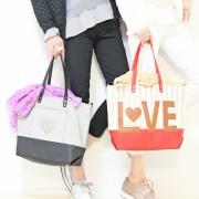 &LOVE BigLOVEロゴのHAPPYトートバッグ【QVC】40代・50代レディースファッション
