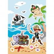 Geen 24x Piraat stickertjes voor kinderen