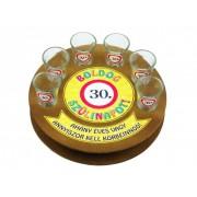 Boldog szülinapot 30-as 6db 1,5cl FT004 - Tréfás Pálinkás kör pohár szett