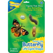 Butterfly Life Cycle Stages Characters Plastic - 4 Piece Set; no. ILP4760