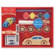Креативен комплект - Направи и оцвети дървена кола, 14575 Melissa and Doug, 000772145756