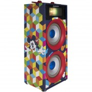 "Bocina Portátil Mickey Colors 2X4"" Bluetooth USB SD AUX FM 600 W P.M.P.O"