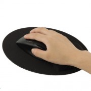 Ultra Slim Gel & Cloth Wrist Supporter Mouse Pad (Black)