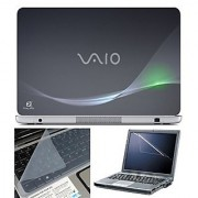 FineArts Laptop Skin 15.6 Inch With Key Guard & Screen Protector - VAIO Grey