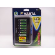 Varta incarcator pentru acumulatori AA si AAA Ni-Mh cu 8 canale LCD Multi Charger cod 57671 si cu USB