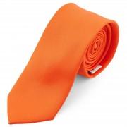 TND Basics Basic Krawatte In Schreiend Orange 6 cm