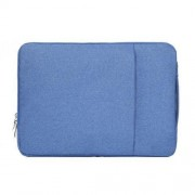 11.6 inch Universal Fashion Soft Laptop Denim Bags Portable Zipper Notebook Laptop Case Pouch for MacBook Air Lenovo and other Laptops Size: 32.2x21.8x2cm (Blue)