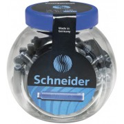Patroane cerneala Schneider albastre , borcan 30 buc