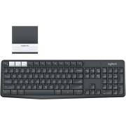 Teclado Logitech K375S inalámbrico negro/gris, 920-008166