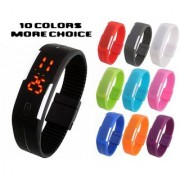 Sport LED Watches Candy Color Silicone Rubber Digital Watches