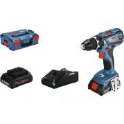 Masina de gaurit&insurubat cu acumulator Bosch Professional GSR18V-28 18V max. 63Nm, 2 acumulatori, incl. valiza L-BOXX 136