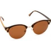 MTV Clubmaster Sunglasses(Brown, Multicolor)