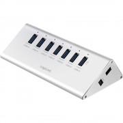 7-portni USB 3.0 hub UA0228 LogiLink srebrna