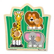 Melissa & Doug 3375 Jungle Friends (Safari) Jumbo Knob,multicolor