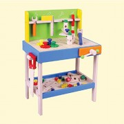 Deluxe Workbench - Wooden Toys - Brainsmith - Early Learning - Hand eye coordination - Fine Motor Skill - Concentration buidling - Imagination - Counting Skills - Brain Development - Birthday gift - Return Favour - Play and Learn - Child safe toys - 3 yea