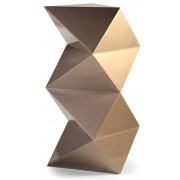 Coluna Decorativa Triangular Lacado Bronze