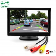 "GreenYi 2 Manieren Video-ingang 5 Inch TFT Auto Video Player 5 ""Parkeer Monitor Voor Achteruitrijcamera Parkeerhulp Systeem"