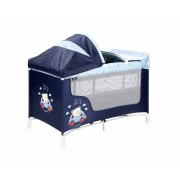 Patut pliabil San Remo Plus 2 nivele si accesorii Blue Bear