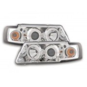 FK-Automotive fari Angel Eyes VW Passat tipo 3B anno di costr. 97-00 cromati